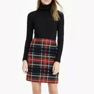 J.Crew Mini skirt in Lurex® Stewart tartan Sz 2